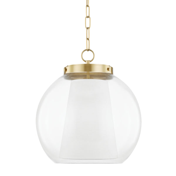 Mitzi by Hudson Valley Lighting H457701L-AGB Sasha 1 Light Large Pendant in Aged Brass
