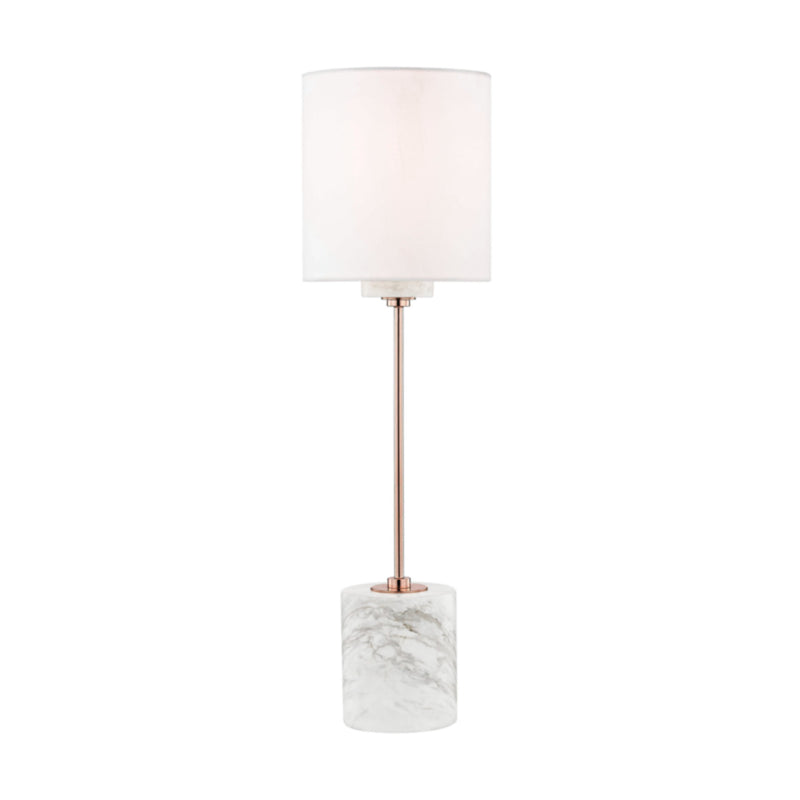 Mitzi by Hudson Valley Lighting HL153201-POC Fiona 1 Light Table Lamp With A Marble Base in Polished Copper
