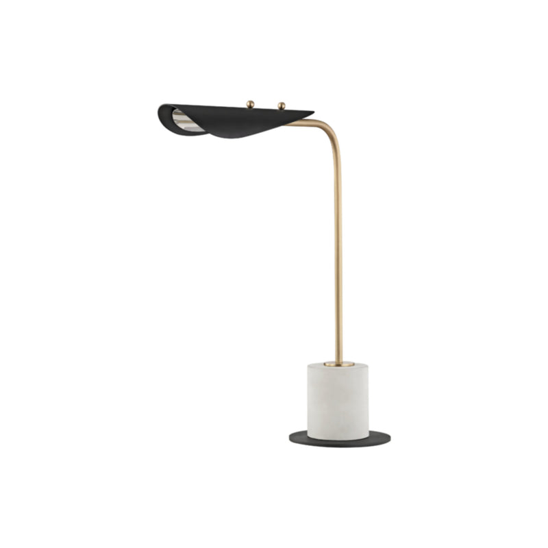 Mitzi by Hudson Valley Lighting HL157201-AGB/BK Layla 1 Light Table Lamp With A Concrete Base in Aged Brass/Black