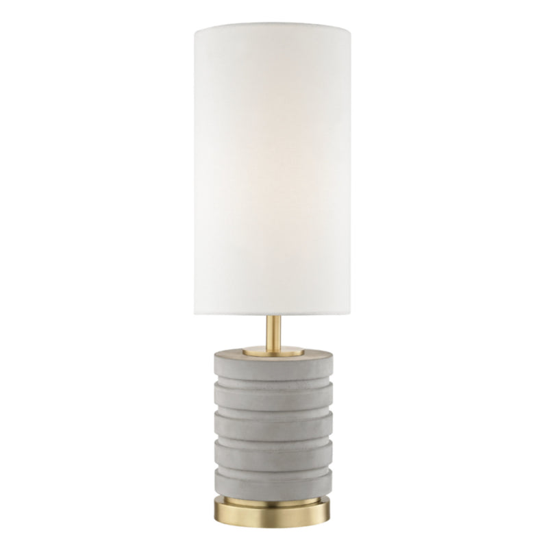 Mitzi by Hudson Valley Lighting HL250201-AGB Iris 1 Light Table Lamp in Aged Brass