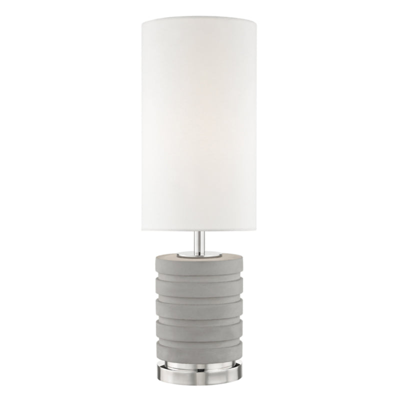 Mitzi by Hudson Valley Lighting HL250201-PN Iris 1 Light Table Lamp in Polished Nickel