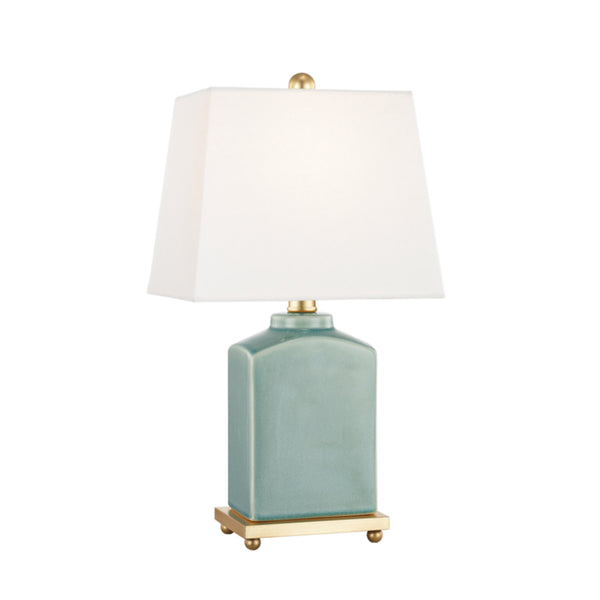 Mitzi by Hudson Valley Lighting HL268201-JD Brynn 1 Light Table Lamp in Jade