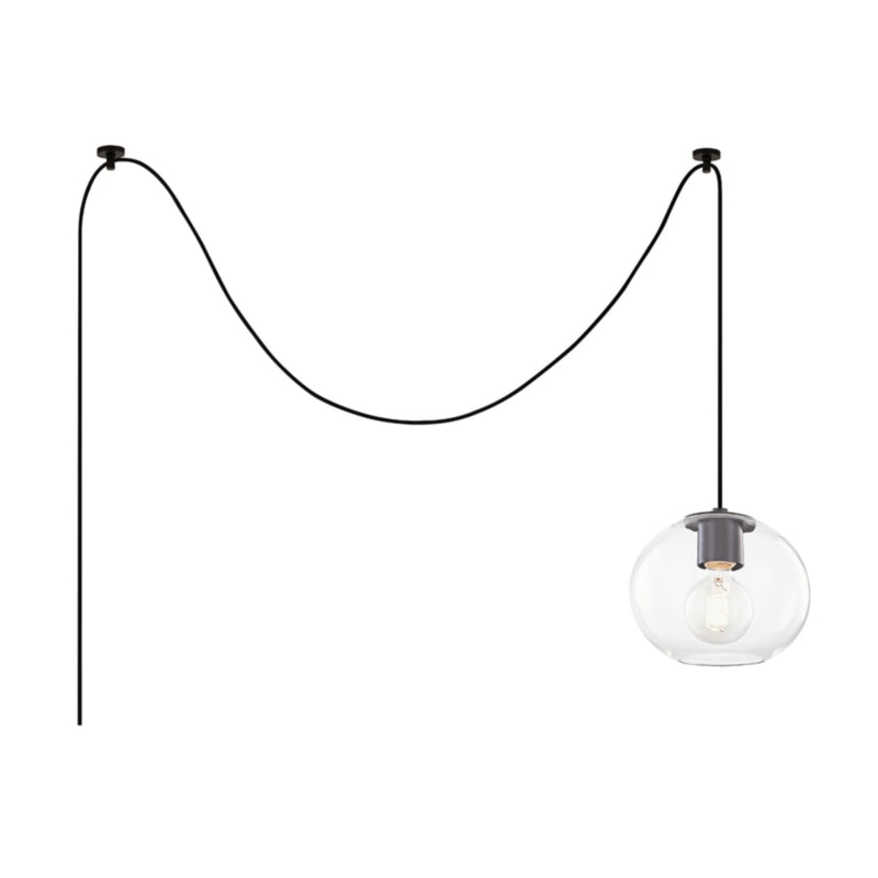 Mitzi by Hudson Valley Lighting HL270701S-OB Margot 1 Light Small Pendant in Old Bronze