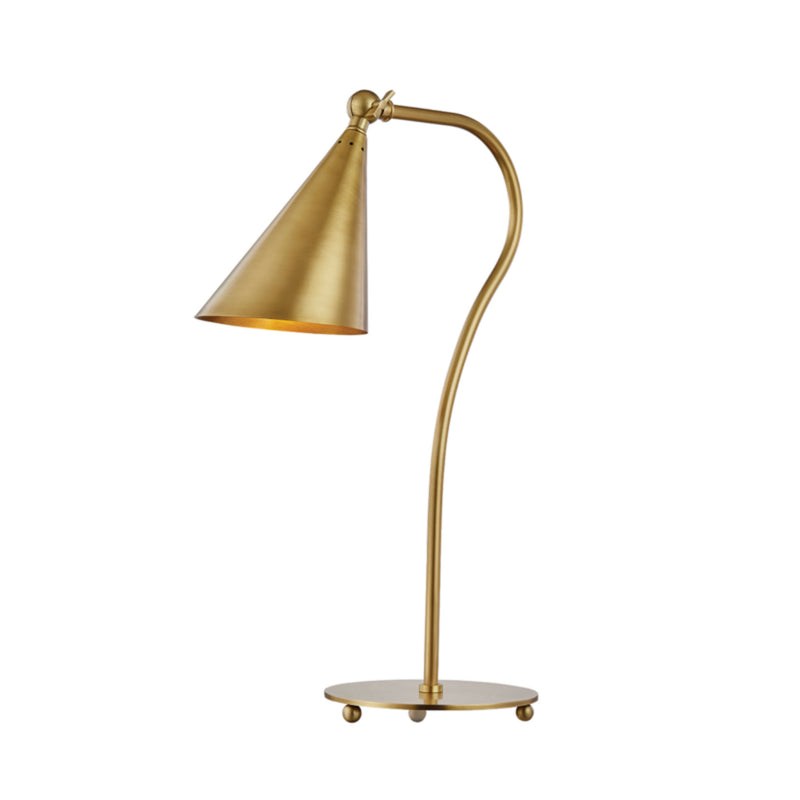 Mitzi by Hudson Valley Lighting HL285201-AGB Lupe 1 Light Table Lamp in Aged Brass
