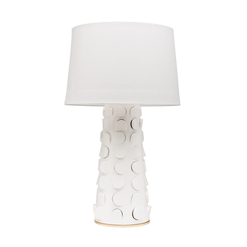Mitzi by Hudson Valley Lighting HL335201-WH/GL Naomi 1 Light Table Lamp in White Lustro/Gold Leaf Combo