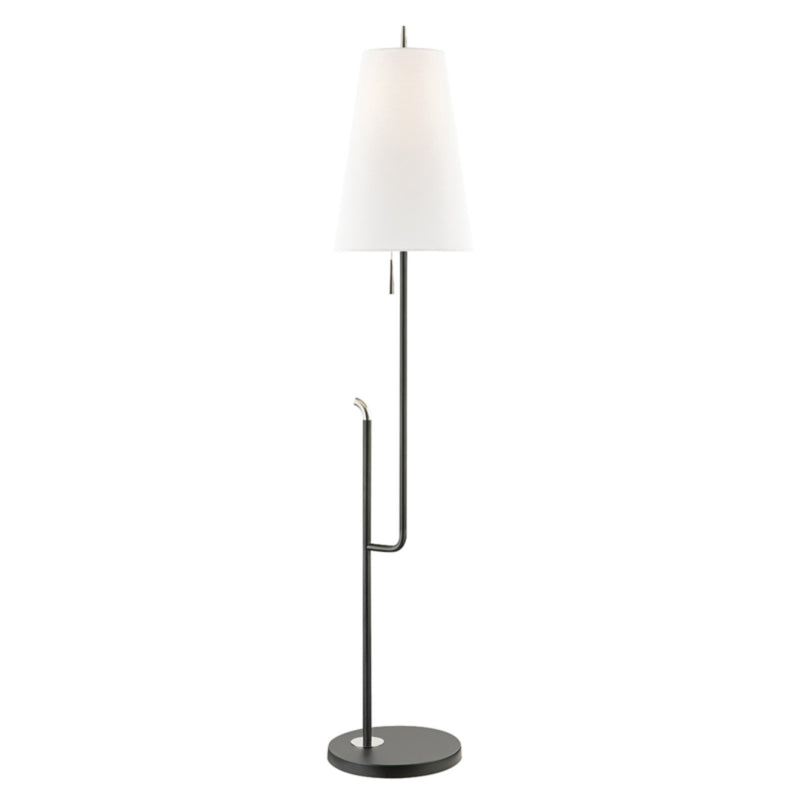 Mitzi by Hudson Valley Lighting HL349401-PN/BK Lillian 1 Light Floor Lamp in Polished Nickel/Black