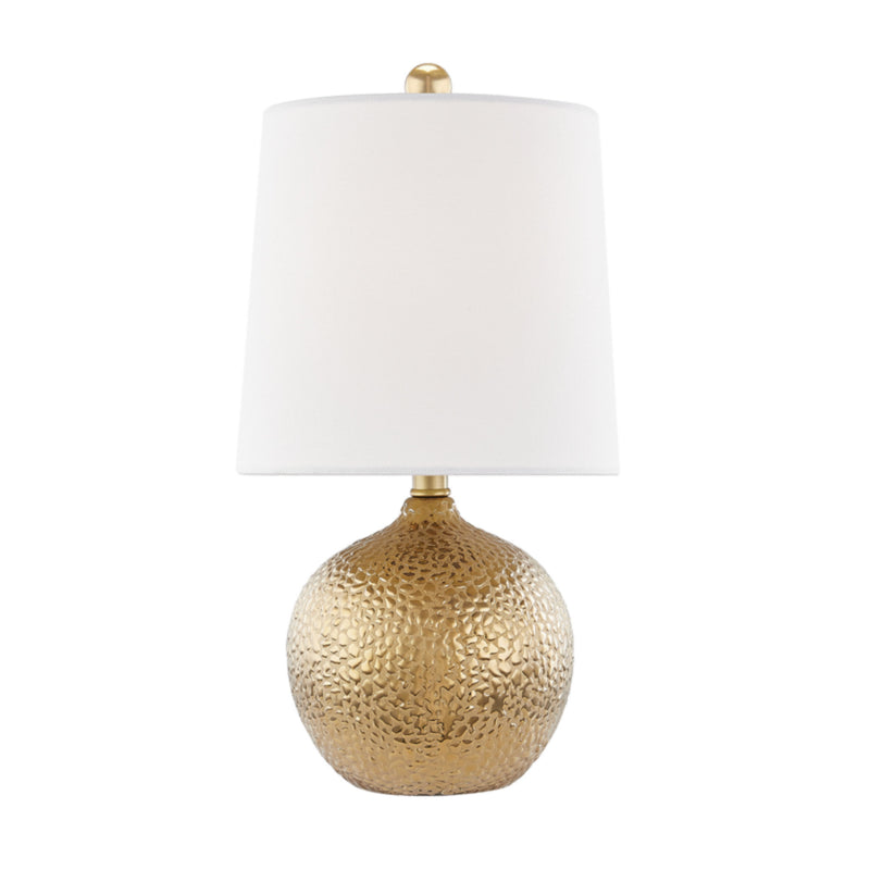 Mitzi by Hudson Valley Lighting HL364201-GD Heather 1 Light Table Lamp in Gold