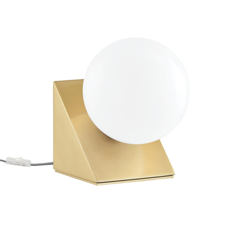 Mitzi by Hudson Valley Lighting HL385201-AGB Aspyn 1 Light Table Lamp in Aged Brass
