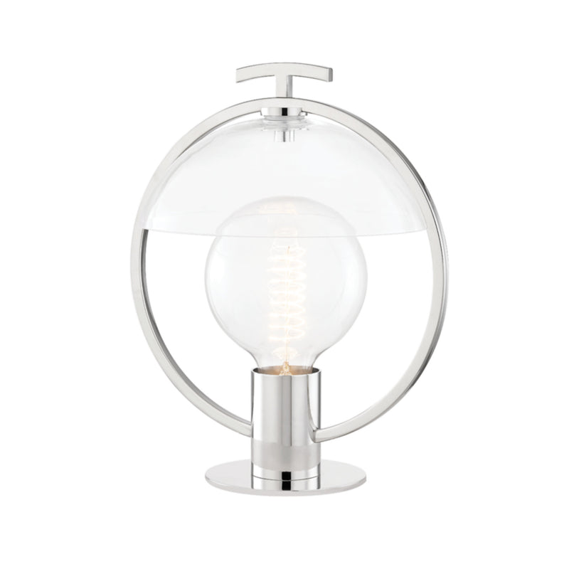 Mitzi by Hudson Valley Lighting HL387201-PN Ringo 1 Light Table Lamp in Polished Nickel