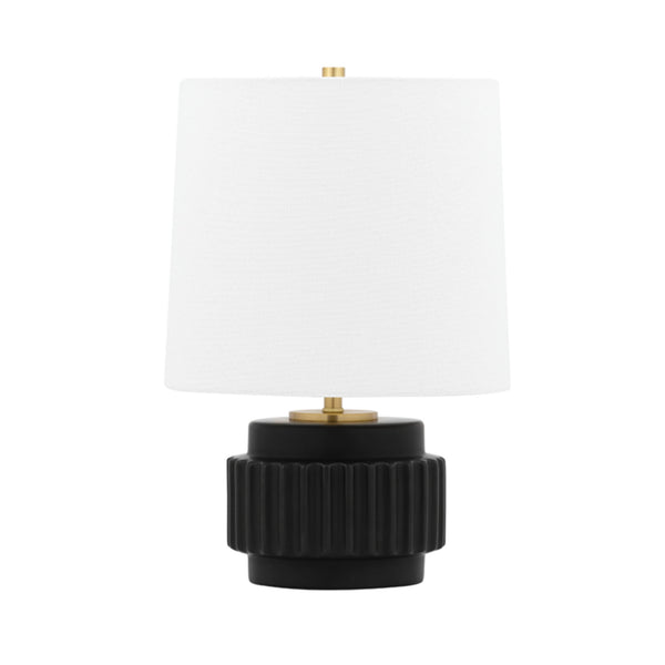 Mitzi by Hudson Valley Lighting HL452201-MB Kalani 1 Light Table Lamp in Matte Black
