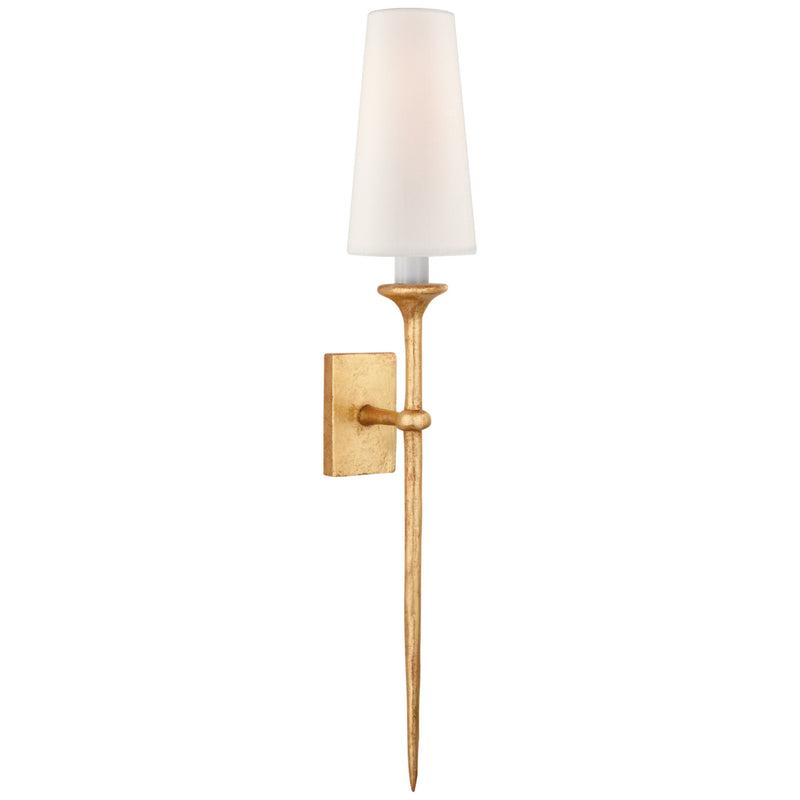 Visual Comfort JN 2075AGL-L Julie Neill Iberia Single Sconce in Antique Gold Leaf