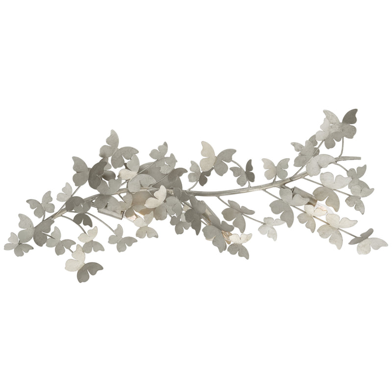 Visual Comfort JN 2502BSL Julie Neill Farfalle Large Sconce in Burnished Silver Leaf