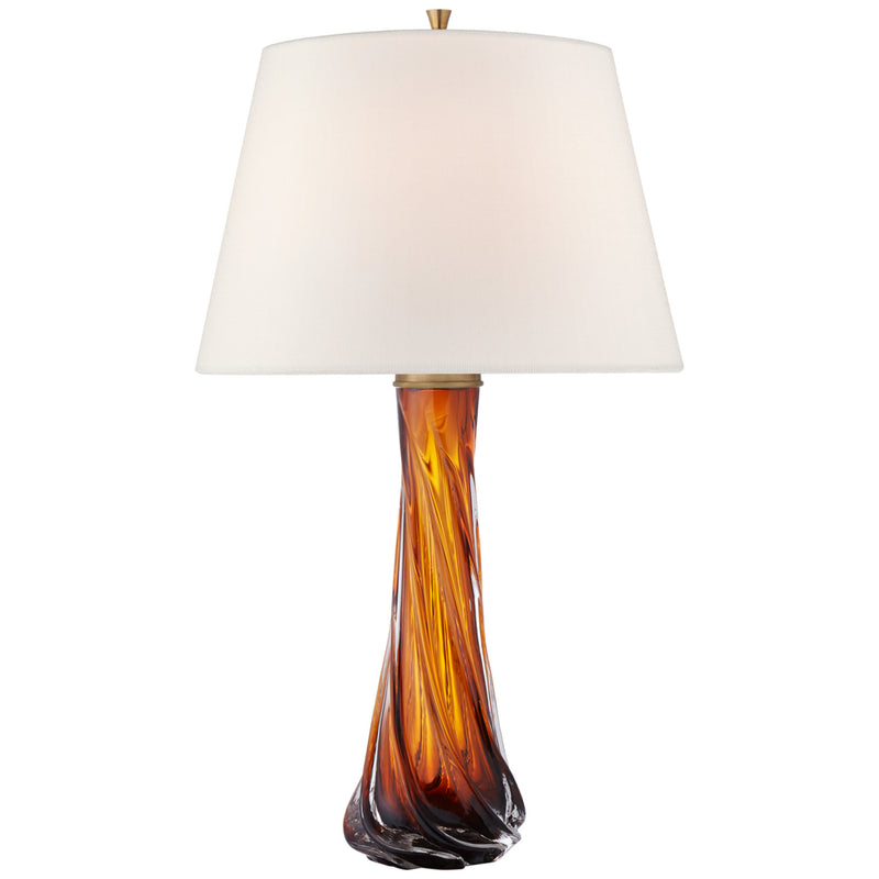 Visual Comfort JN 3710AMB-L Julie Neill Lourdes Large Table Lamp in Amber Glass