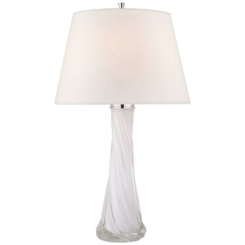 Visual Comfort JN 3710WHT-L Julie Neill Lourdes Large Table Lamp in White Glass