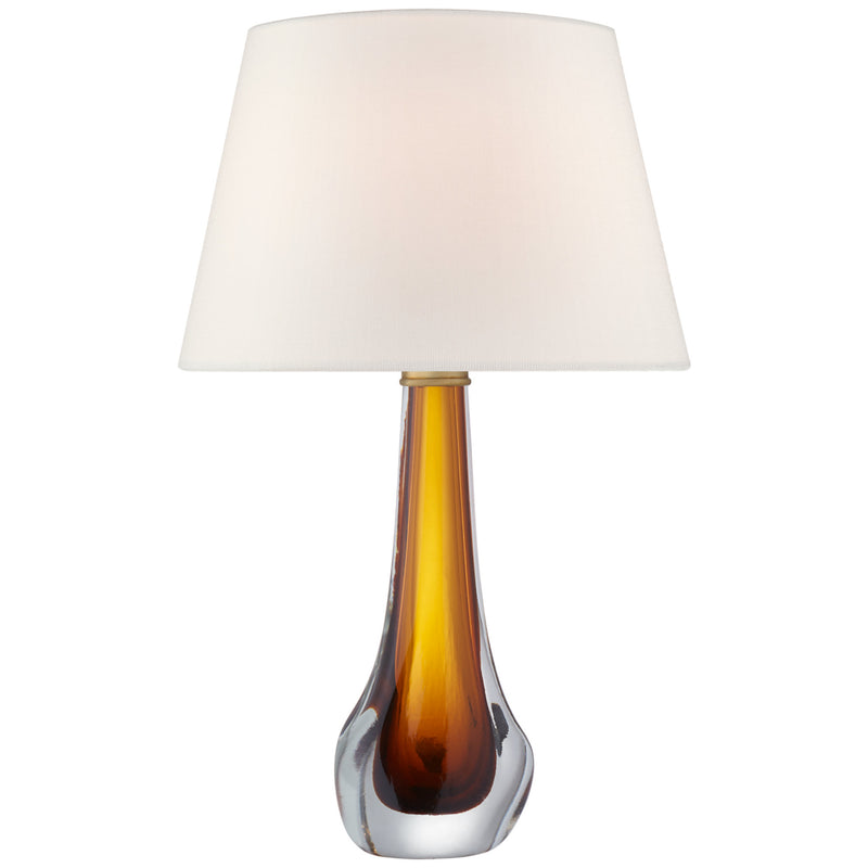 Visual Comfort JN 3711AMB-L Julie Neill Christa Large Table Lamp in Amber Glass