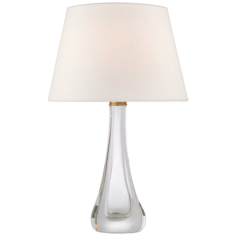 Visual Comfort JN 3711CG-L Julie Neill Christa Large Table Lamp in Clear Glass