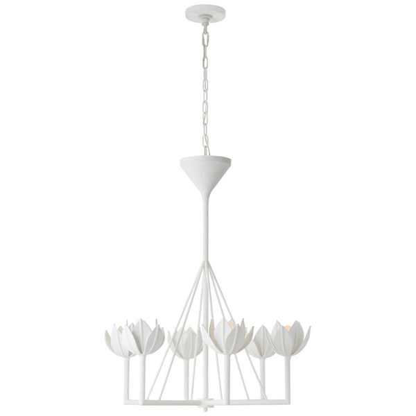 Visual Comfort JN 5003PW Julie Neill Alberto Small Single Tier Chandelier in Plaster White
