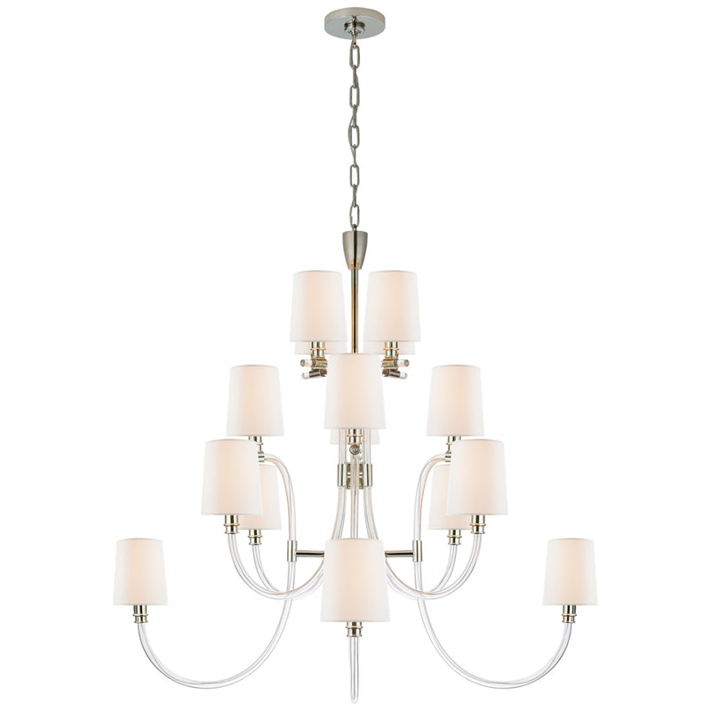 Visual Comfort Jn 5030cg Pn L Julie Neill Clarice Large Chandelier In Foundry Lighting