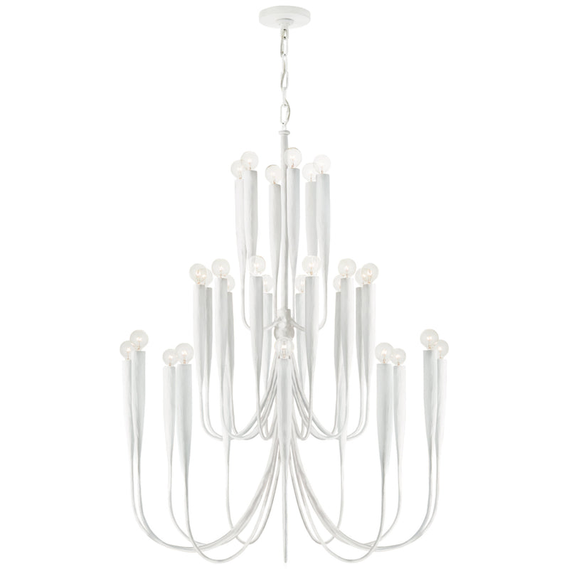Visual Comfort JN 5072PW Julie Neill Acadia Large Chandelier in Plaster White