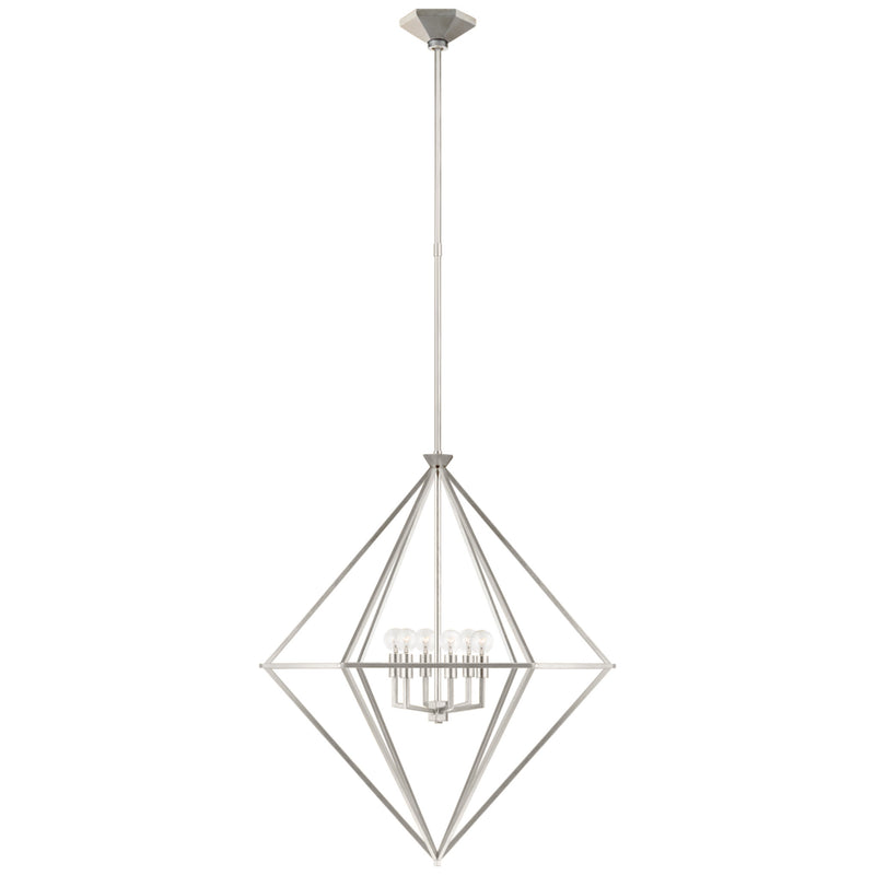 Visual Comfort JN 5096BSL Julie Neill Afton Medium Elongated Lantern in Burnished Silver Leaf