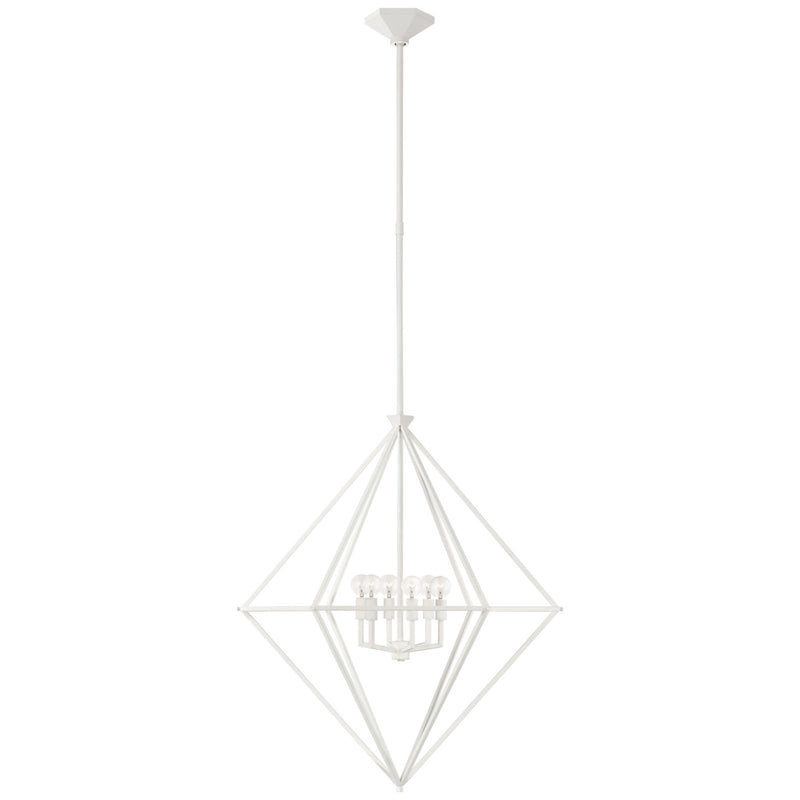 Visual Comfort JN 5096PW Julie Neill Afton Medium Elongated Lantern in Plaster White