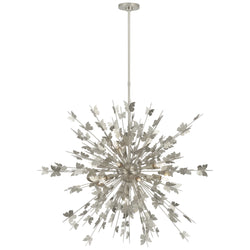 Visual Comfort JN 5502BSL Julie Neill Farfalle Large Chandelier in Burnished Silver Leaf