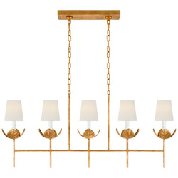 Visual Comfort JN 5630AGL-L Julie Neill Illana Large Linear Chandelier in Antique Gold Leaf