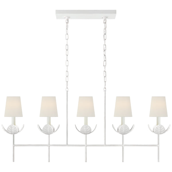 Visual Comfort JN 5630PW-L Julie Neill Illana Large Linear Chandelier in Plaster White