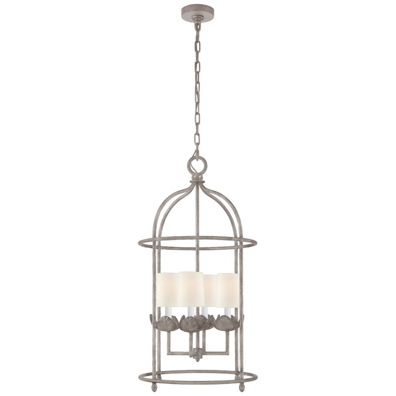 Visual Comfort JN 5632BSL-L Julie Neill Illana Medium Lantern in Burnished Silver Leaf