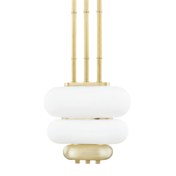 Hudson Valley Lighting KBS1354702-AGB Palisade 2 Light Pendant in Aged Brass
