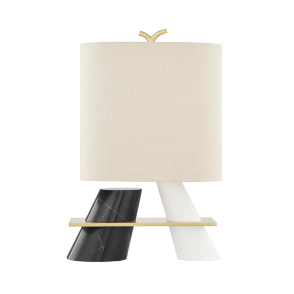 Hudson Valley Lighting KBS1360201-AGB Traverse 1 Light Table Lamp in Aged Brass
