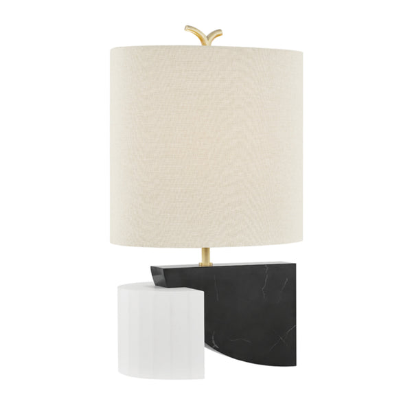 Hudson Valley Lighting KBS1428201-AGB Construct 1 Light Table Lamp in Aged Brass