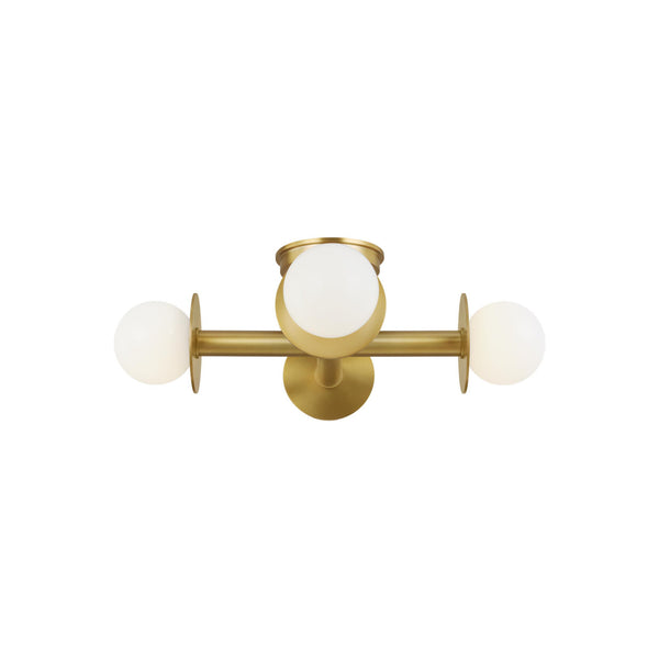 Generation Lighting KF1034BBS Kelly Wearstler Nodes 4 Light Ceiling Light in Burnished Brass
