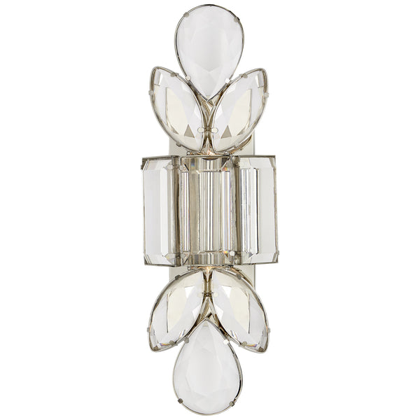 Visual Comfort KS 2017PN-CG kate spade new york Lloyd Large Jeweled Sconce in Polished Nickel