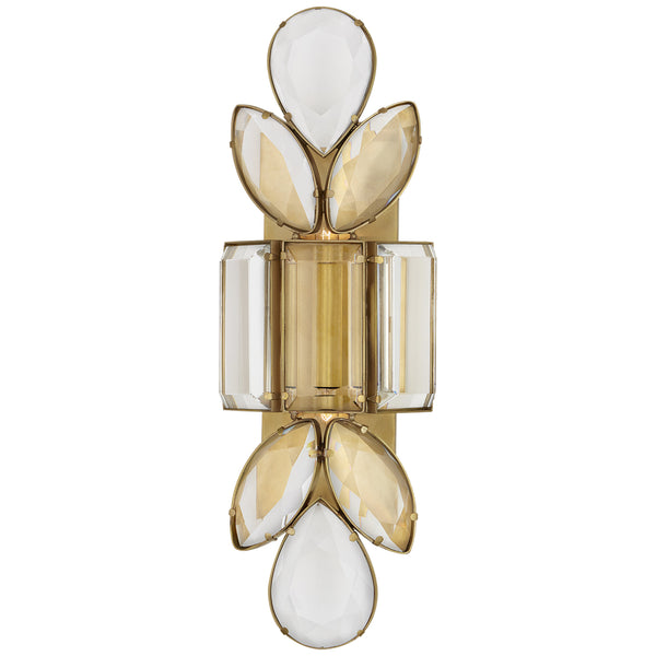Visual Comfort KS 2017SB-CG kate spade new york Lloyd Large Jeweled Sconce in Soft Brass