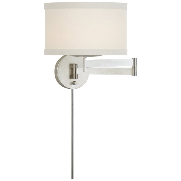 Visual Comfort KS 2075BSL-L kate spade new york Walker Swing Arm Sconce in Burnished Silver Leaf