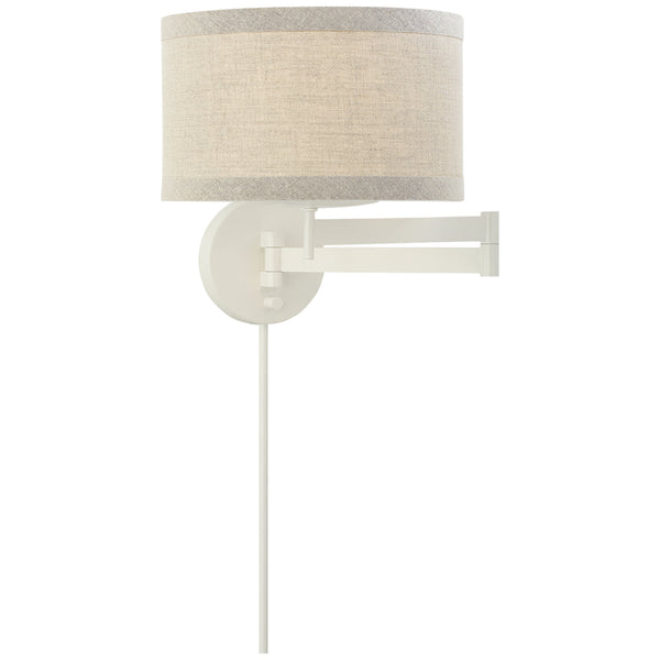 Visual Comfort KS 2075LC-NL kate spade new york Walker Swing Arm Sconce in Light Cream