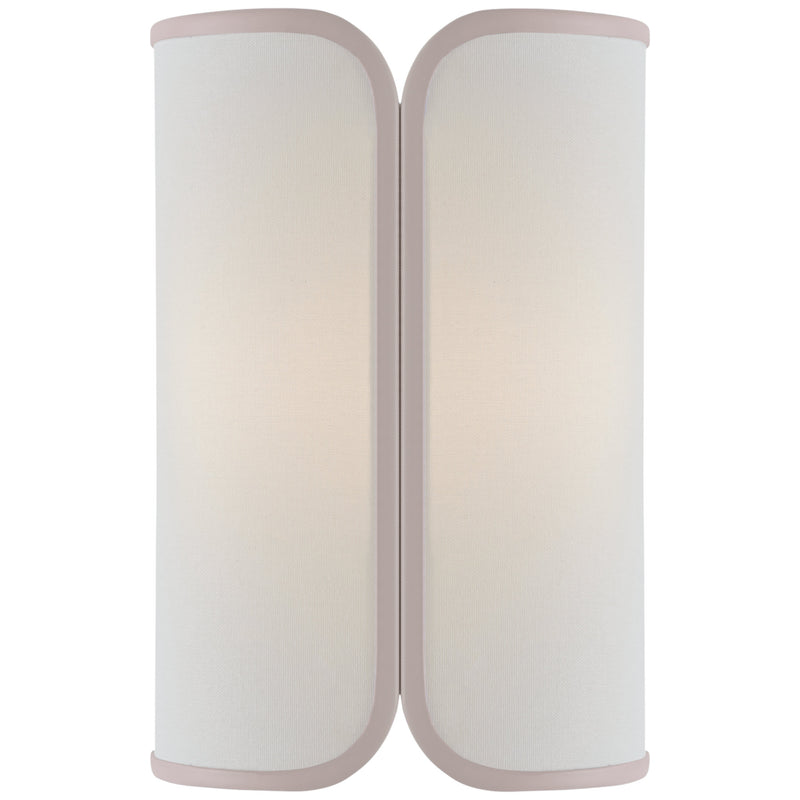 Visual Comfort KS 2080SB-L/CRE kate spade new york Eyre Medium Sconce in Soft Brass