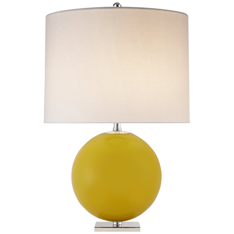 Visual Comfort KS 3014YL-L kate spade new york Elsie Table Lamp in Yellow
