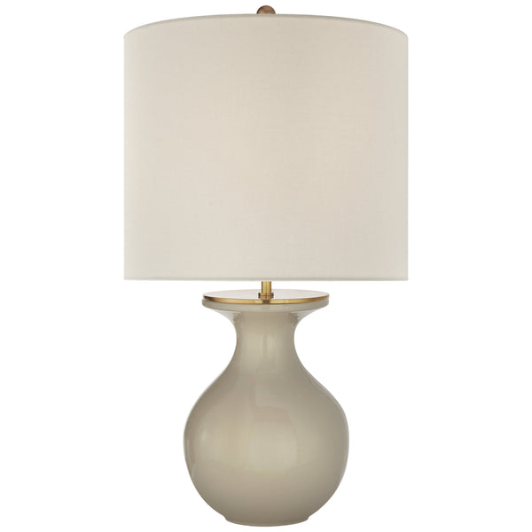 Visual Comfort KS 3616DVG-L kate spade new york Albie Small Desk Lamp in Dove Grey