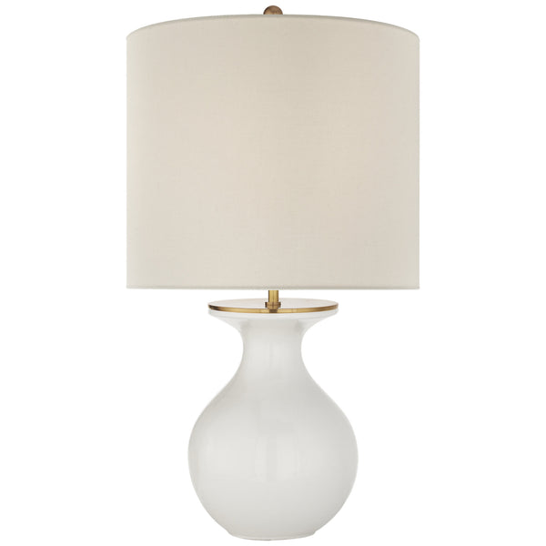 Visual Comfort KS 3616NWT-L kate spade new york Casual Albie Small Desk Lamp in New White