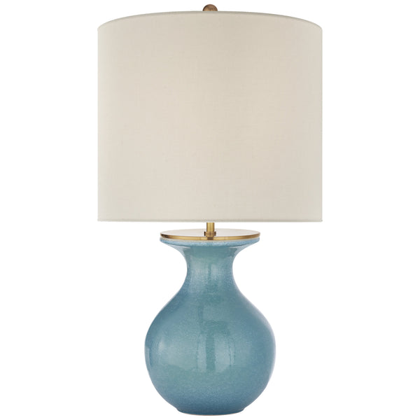 Visual Comfort KS 3616STU-L kate spade new york Albie Small Desk Lamp in Sandy Turquoise