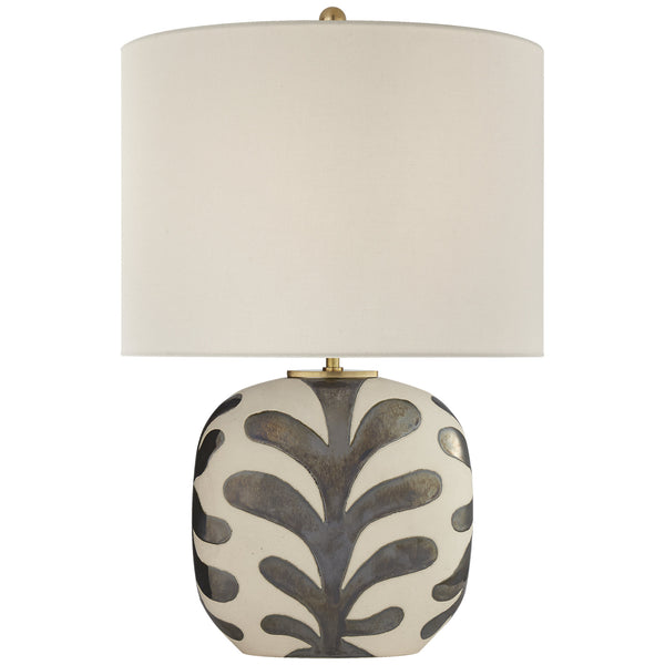 Visual Comfort KS 3618NBQ/BKP-L kate spade new york Parkwood Medium Table Lamp in Natural Bisque and Black Pearl