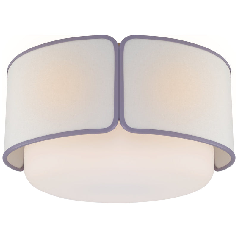 Visual Comfort KS 4082PN/WG-L/LLC kate spade new york Eyre Large Flush Mount in Polished Nickel and Soft White Glass