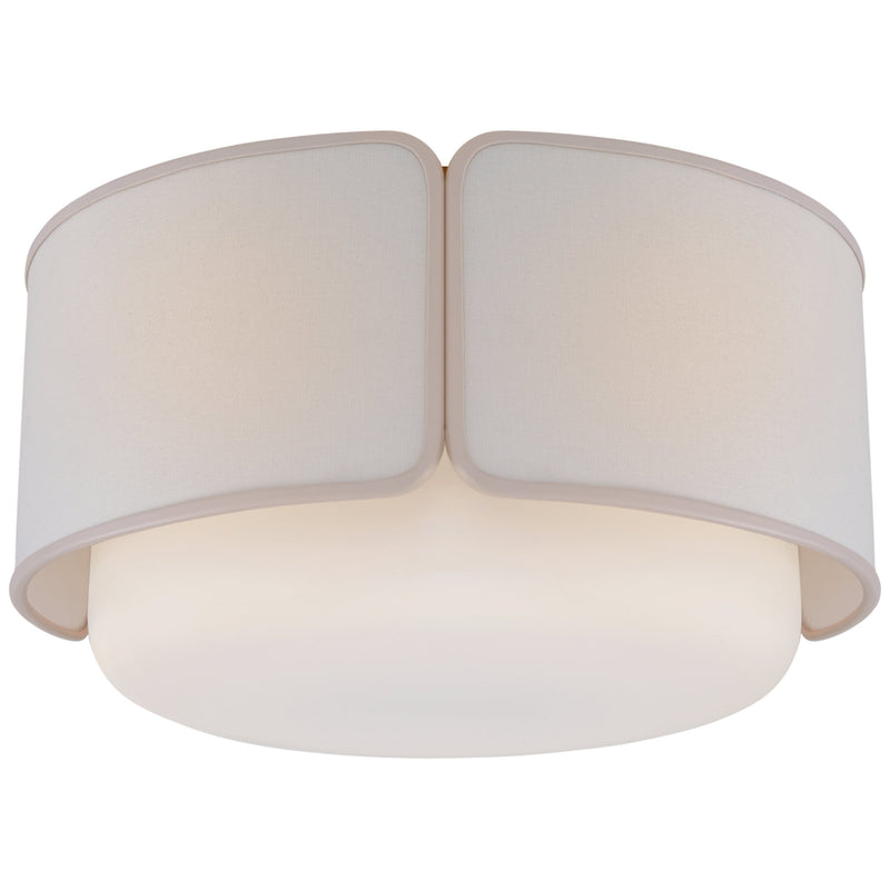 Visual Comfort KS 4082SB/WG-L/CRE kate spade new york Eyre Large Flush Mount in Soft Brass and Soft White Glass
