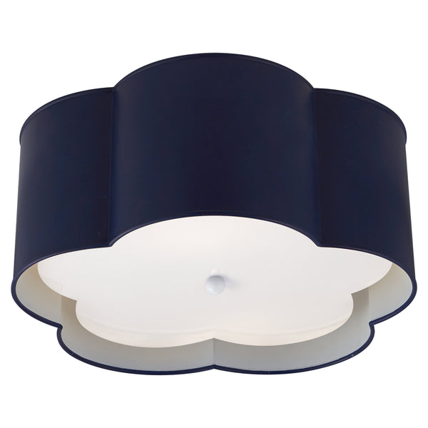 Visual Comfort KS 4117NVY/WHT-FA kate spade new york Bryce Medium Flush Mount in French Navy and White