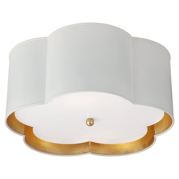Visual Comfort KS 4117WHT/G-FA kate spade new york Bryce Medium Flush Mount in Plaster White