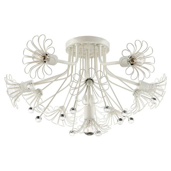 Visual Comfort KS 4311LC kate spade new york Keaton Bouquet Flush Mount in Light Cream