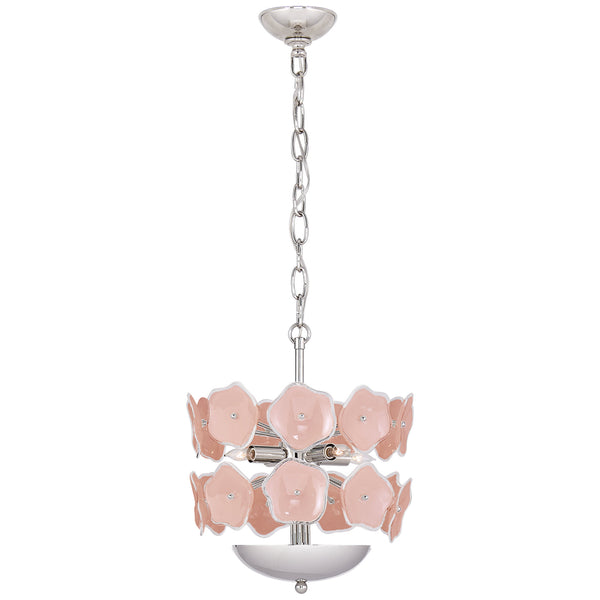 Visual Comfort KS 5065PN-BLS kate spade new york Leighton Small Chandelier in Polished Nickel