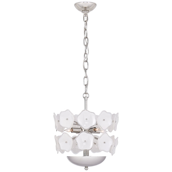 Visual Comfort KS 5065PN-CRE kate spade new york Leighton Small Chandelier in Polished Nickel